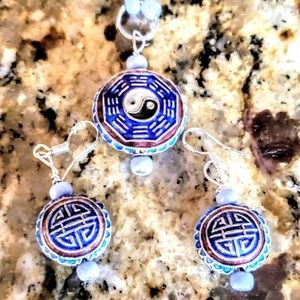 Jewelry - Chinese Yin and Yang earring and pendant set